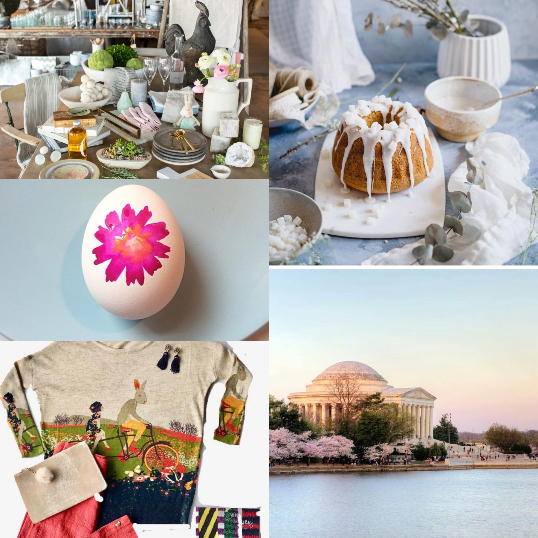 Company Memo: Easter Finds, Cherry Blossoms, and Coconut Cake