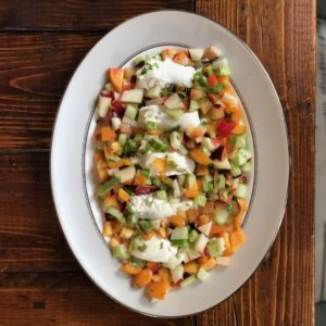 Simple Summer Suppers: Stone Fruit and Burrata Salad